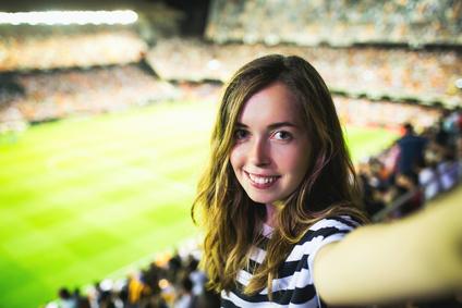 Barcelona Stadion Werbung